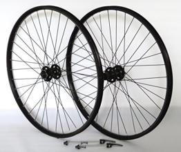 Vuelta 27,5 Zoll 650B Fahrrad Laufradsatz Pro Disc Hohlkammerfelge schwarz Shimano Deore XT756 schwarz NIRO schwarz - 1