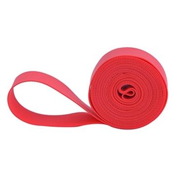 Alomejor 2 Stücke PVC Rot Fahrrad Reifen Pannenschutz Anti Punktion Bike Reifen Felgenband für MTB Mountain Road Bike(20inch) - 6