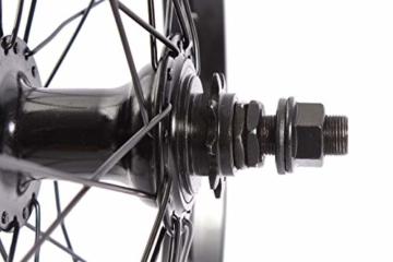 KHE BMX Hinterrad Alu Felge KHE BIG400 36 Loch 14mm schwarz 9 Zähne Ritzel und Felgenband - 3