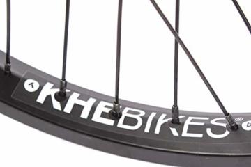 KHE BMX Hinterrad Alu Felge KHE BIG400 36 Loch 14mm schwarz 9 Zähne Ritzel und Felgenband - 4