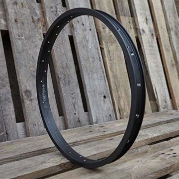 KHE MVP BMX Felge DD 20 Zoll Aluminium T6 nur 420g 36 Loch 35mm breit schwarz - I4 - 3