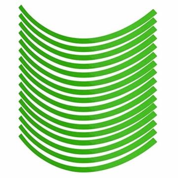 Yctze 16er Felgenstreifen Felgenband Dekor Zierleisten Passend für 16-19 Zoll Auto, Fahrrad und Mortorcycle Felgen(Fluoreszierendes Grün) - 1