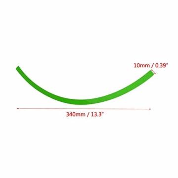 Yctze 16er Felgenstreifen Felgenband Dekor Zierleisten Passend für 16-19 Zoll Auto, Fahrrad und Mortorcycle Felgen(Fluoreszierendes Grün) - 6