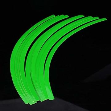 Yctze 16er Felgenstreifen Felgenband Dekor Zierleisten Passend für 16-19 Zoll Auto, Fahrrad und Mortorcycle Felgen(Fluoreszierendes Grün) - 7
