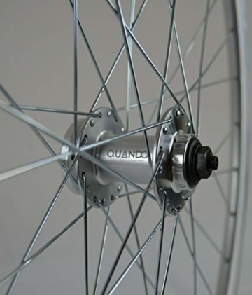 Redondo 28 Zoll Laufrad Set Vorderrad Hinterrad Disc Felge Silber + 8 Fach Kranz - 3